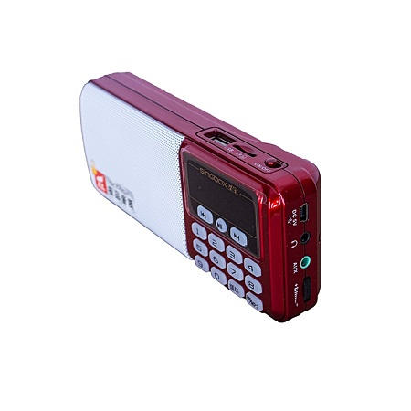 RED FM Radio, Portable,supports USB & AUX.