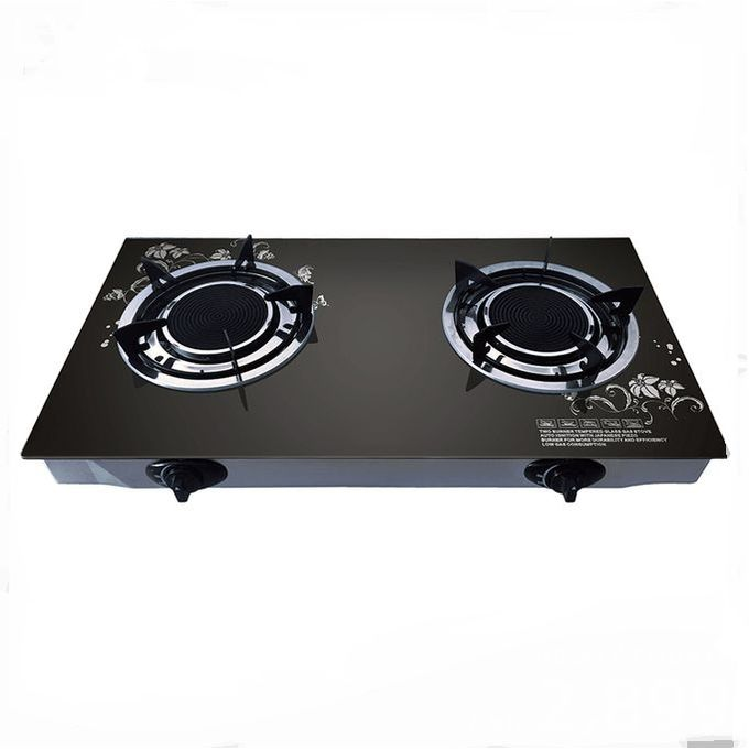 AILYONS 2 Burner - Glass Top And Infrared Gas Stove Double Burner