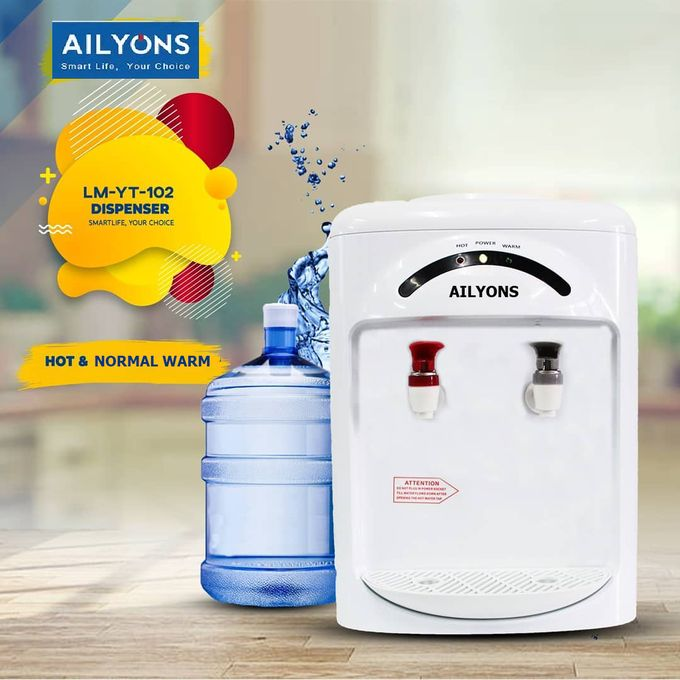 AILYONS Hot And Normal Water Dispenser-White- Table Top