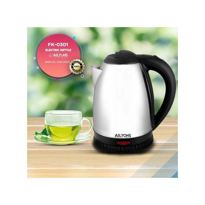 AILYONS Stainless Steel Cordless Kettle - Silver