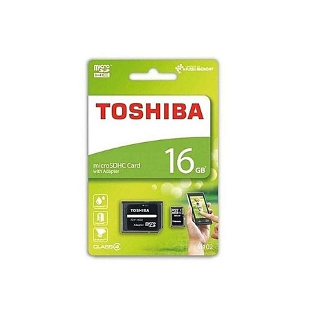 Toshiba Micro SD Memory Card 16GB Capacity - Black