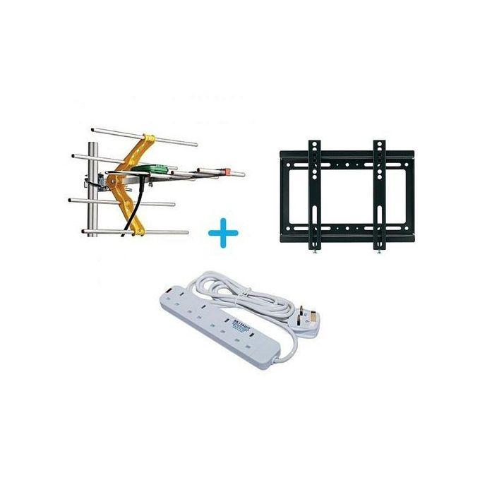 Generic TV Aerial+14inch-42inch TV Bracket+4way Power Extension