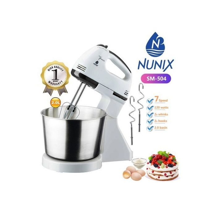 Nunix Hand Mixer + Stand With Bowl