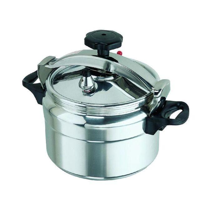 Rashnik Pressure Cooker - Explosion Proof - 9 Ltrs - Silver
