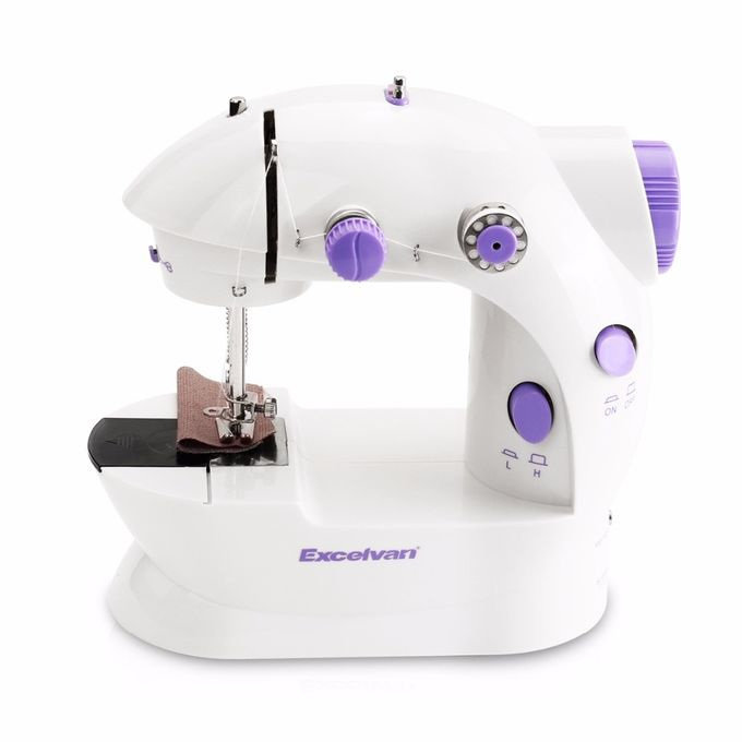 Mini Sewing Machine Overlock Dual Speed Household Foot Pedal Sewing Machine