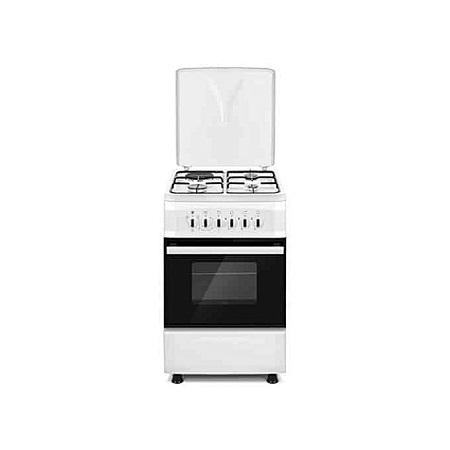 SOLSTAR SO531F-EWHB SS: 50cm Free Standing Cooker - 3 Gas + 1 Hotplate - White