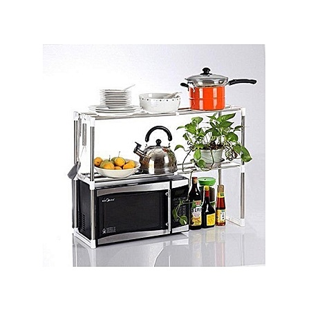 Microwave Oven Stand Shelf Side Organizer