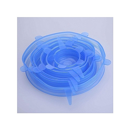 Insta Lids - Silicone Stretch Lids 6-Pack Of Various Sizes - Blue