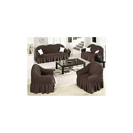Superior Sofa Seat Covers - 3+2+1+1 - Chocolate Brown