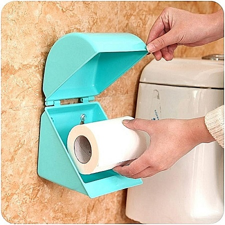 Plastic Tissue Paper Holder - Blue
