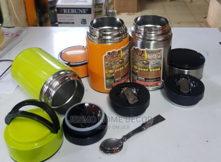 STAINLESS STEEL FOOD FLASK 800ml With Fordable Spoon
