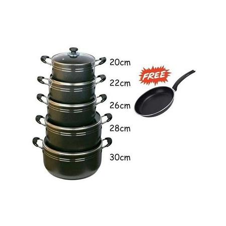 TC 11 Piece Non Stick Cooking Pots / Sufurias