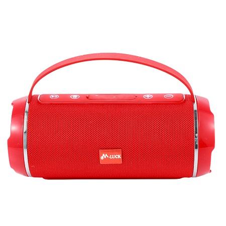 M Luck Red Portable Bluetooth FM Speaker
