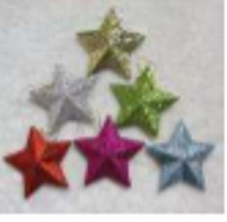 9Cm Glitter Star, 6pcs/Bag