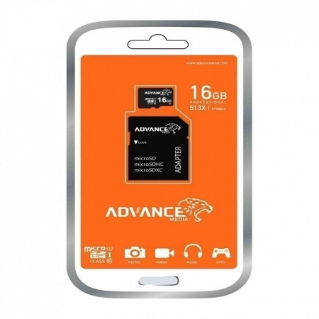 Advance 32GB Micro SD Memory Card with Adapter - Black