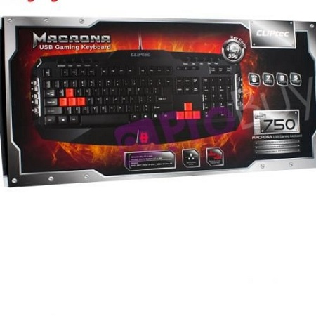 Gaming keyboard Cliptech Macrona 750 Black