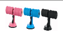 Sunction Sit Up Bar With Suction Disk, Height Adjustable From 17cm-20cm, Steel, Foam, Rubber, 27*12*(17-20)cm, Pink/Blue/Black