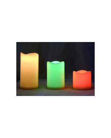 LED Candle, 3 In Pack, Different Size With Remote Win Win