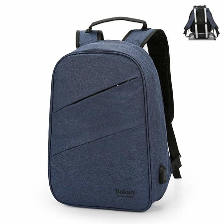 Antitheft Bag With Charging Port-Blue