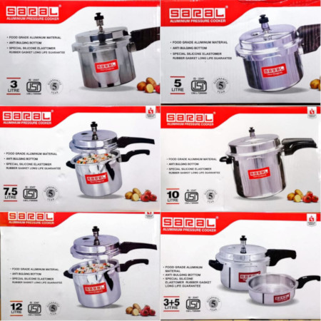 Saral Aluminium Pressure Cooker - Explosion Proof With SAFETY Valve