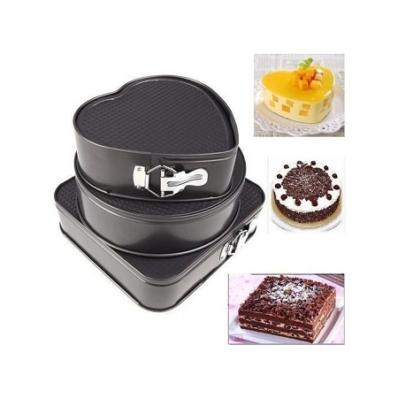 Generic A Set Of 3 Different Shapes Of Baking Tins