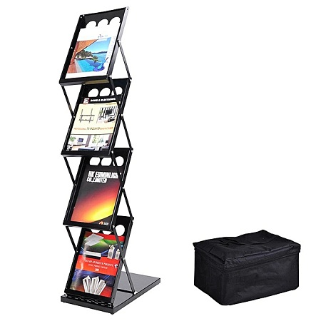 Brochure Holder Display Dimensions: 155Cm(H) X 36.5Cm(L) X Double sides Display ,6 Pockets Total