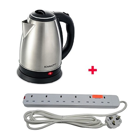 Scarlett Cordless Electric Kettle - 2Litres - Silver