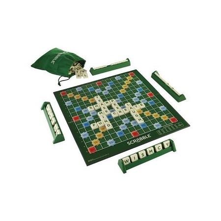 Scrabble Unisex Scrabble With 4 Maximum Player Crossword Game Green NORMAL