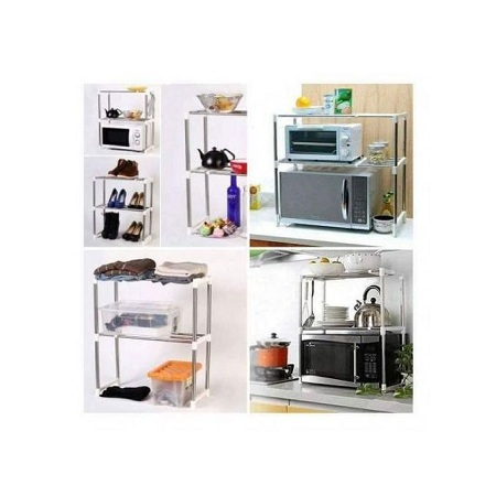 Expandable Stainless Steel Microwave Organizer