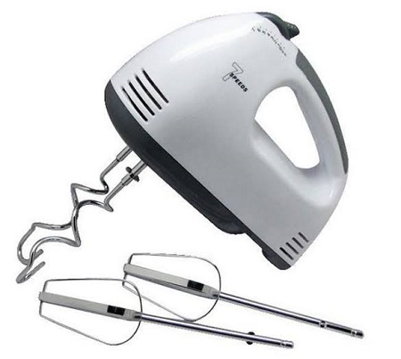 Hand Mixer Egg Beater Food Blender Multifunctional Electric Kitchen Mixer- White