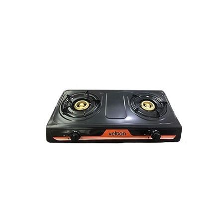 VELTON Gas Stove VGS-7102B 2 Burner-Black