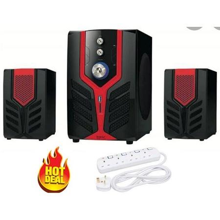 Iconix 2.1CH Woofer Multimedia System-BT,USB/FM + Gift