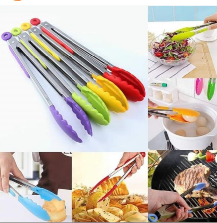 Silicone Tongs For Serving And BBQ Cooking 12Inches