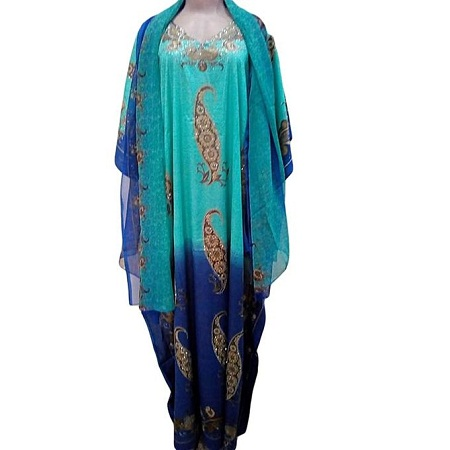 Fatush One Stop Shop Dera with Shawl (Free Size and Colourful)