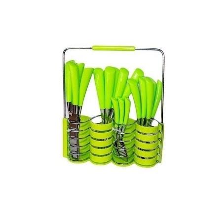 24 - Pieces Cutlery Set - Green