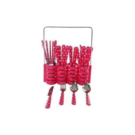 24 Pieces Cutlery Set - Pink