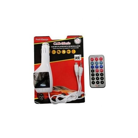 Mp3 Player/FM-Modulator With Display-White And Black