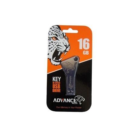 Advance Key Design Flash Disk - 16GB - Silver