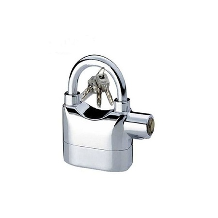 Aniket Alarm Security Padlock - Silver