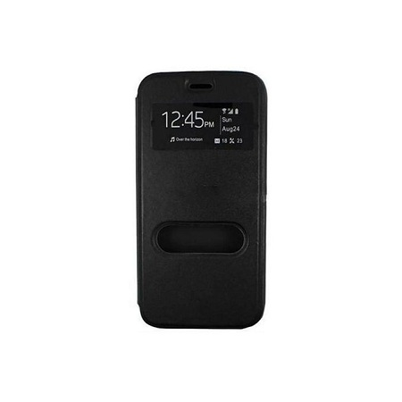 Double Window Tecno L9 Plus Flip Cover - Black