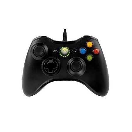Microsoft XBOX 360 Wired Controller-black