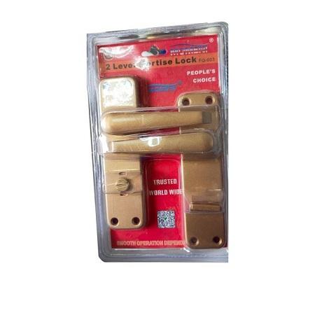 Moment 2 Lever Mortise Door Lock - Silver Bathroom Locks Keyless