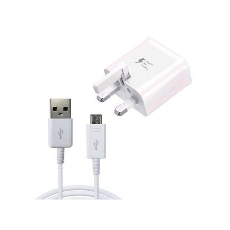 Samsung Galaxy J7 Adaptive Charger & Sync Cable - White