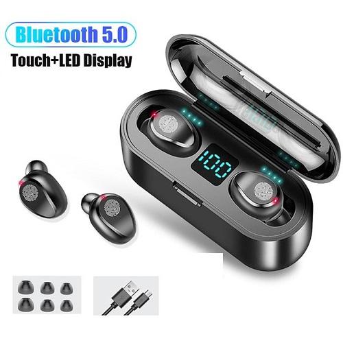 Wireless Bluetooth Ear-bud In-ear Bass & Stereo Headsets Earphone With Charging Pod