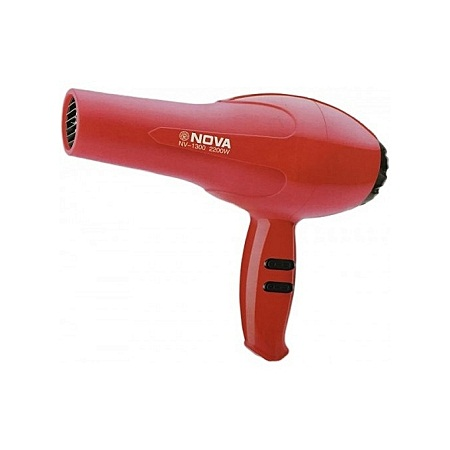 Nova Professional Hair Blow Dryer Black Heat Speed Blower red