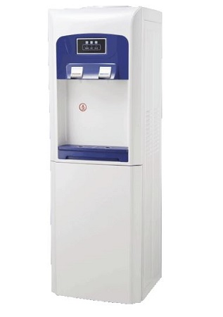 SOLSTAR Hot & Cold Water Dispenser with 12L Cabinet – White & Blue Color