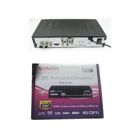 Sonar Free To Air Digital Decoder No Monthly Charges Full HD-T2F11 With Usb - Black
