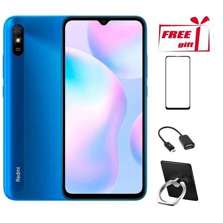 Redmi 9A, 4G, 32GB+2GB RAM,13MP, 5000mAh_blue + Free Gifts