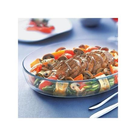 Signature 2pcs-Set High Borosilicate Glass Baking Pan/Dish Oval Shape
