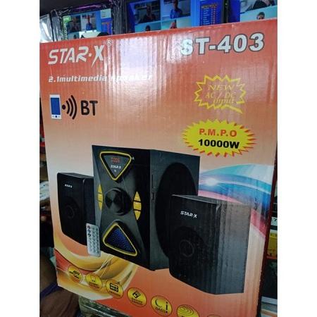Star X 2.1 Multimedia Speaker System BT,FM,USB PORT